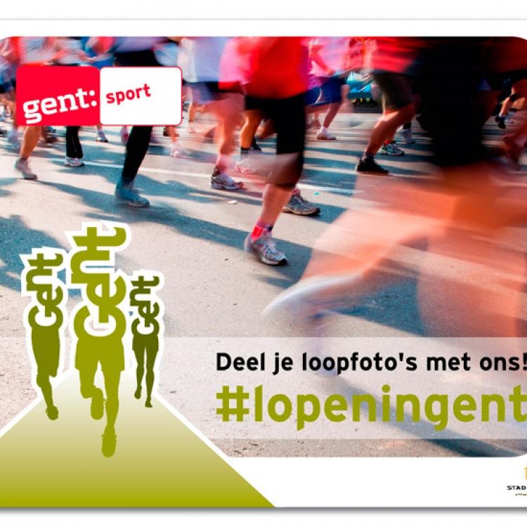 Stad Gent -Lopen in Gent 2017 - Groot spandoek voor de warmathon