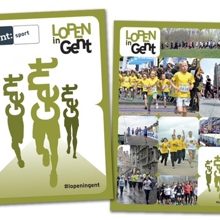Stad Gent - LopenInGent campagne - A5 brochure cover & achterzijde