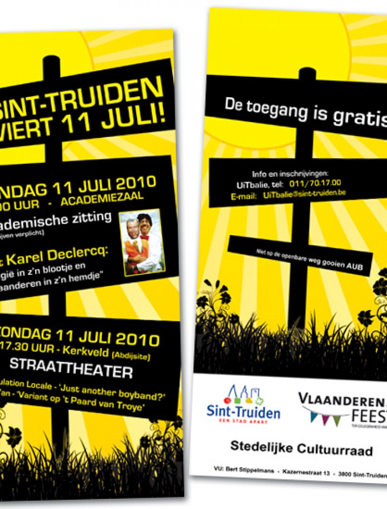 Stad Sint-Truiden flyer eventaankondiging US formaat