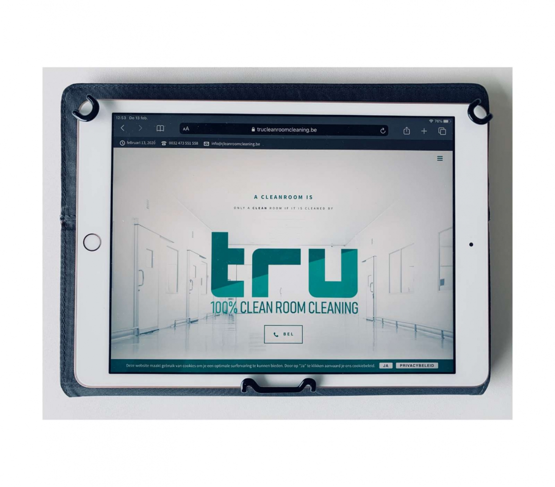 TRU cleanroom cleaning huisstijl - logo - website