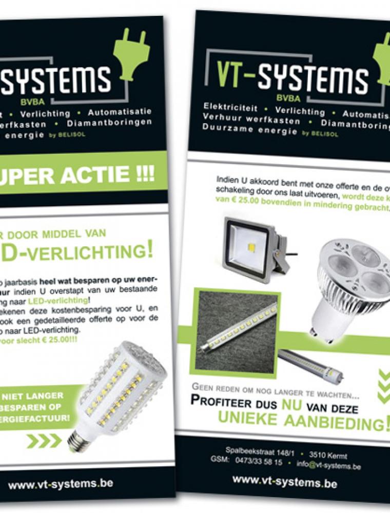 VT Systems US flyer aankondiging actie