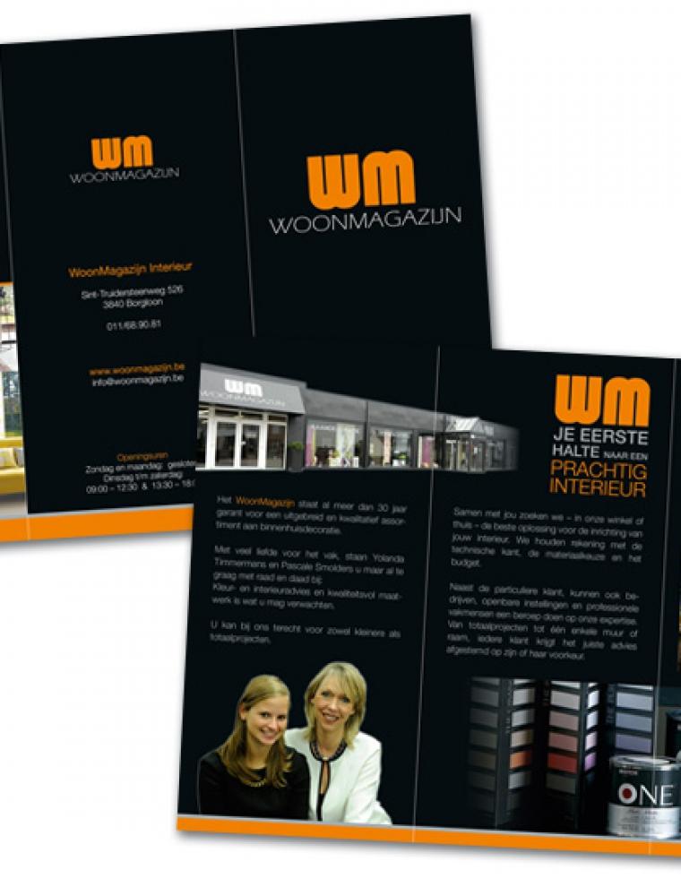 WM woonmagazijn Drieluik US informatieve folder