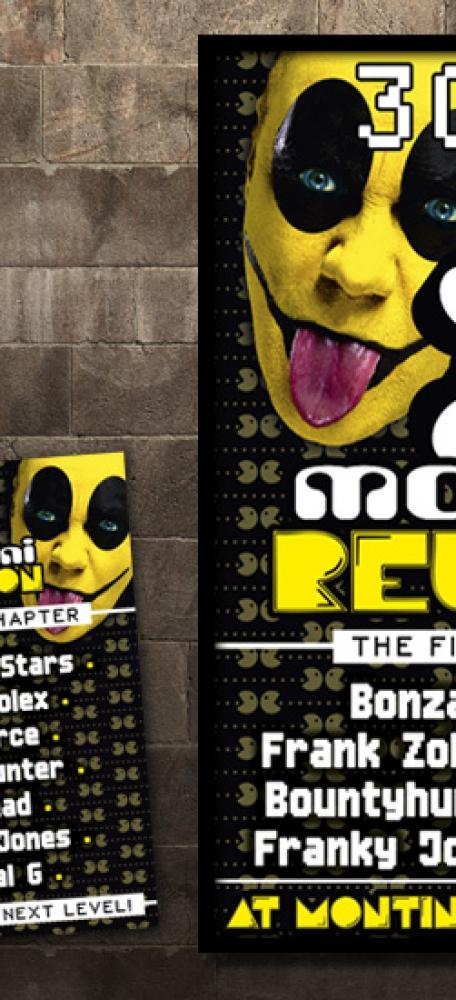 Zolex Montini Reunion Affiche en A6 flyer eventaankondiging (2)