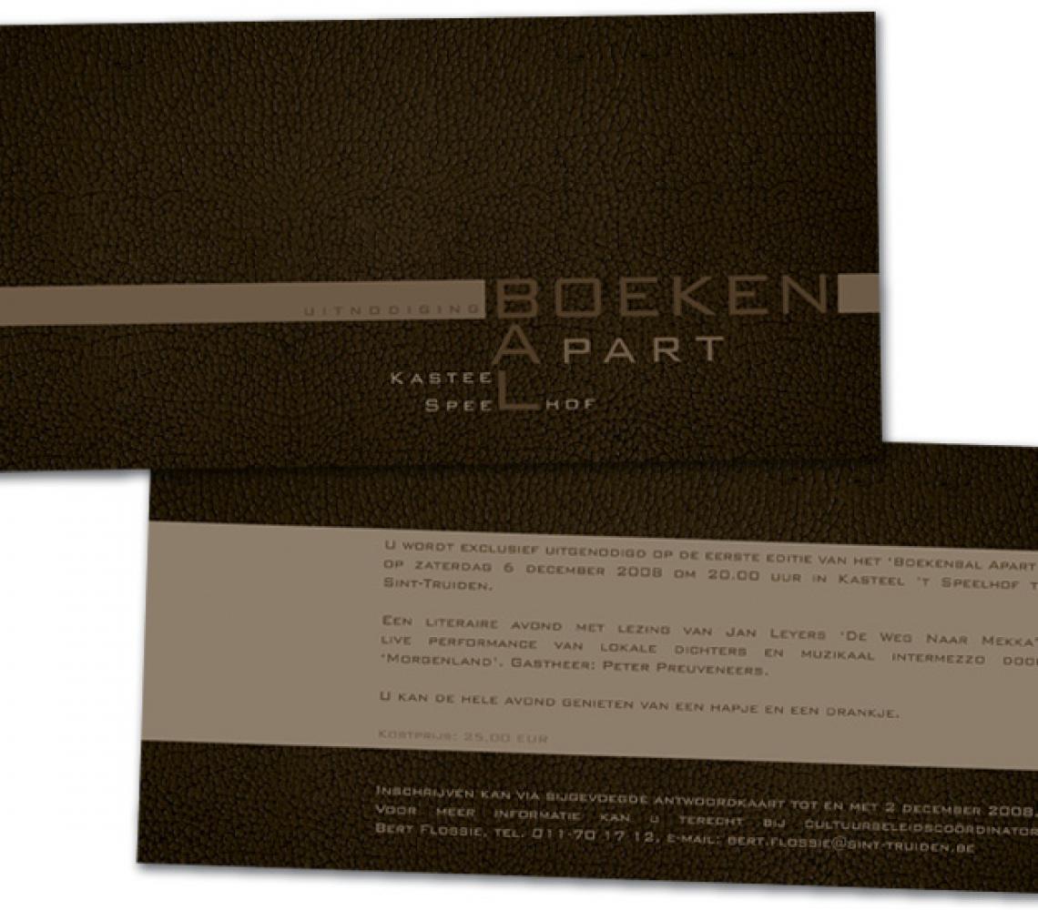 cc de Bogaard US flyer uitnodiging Boekenbal apart