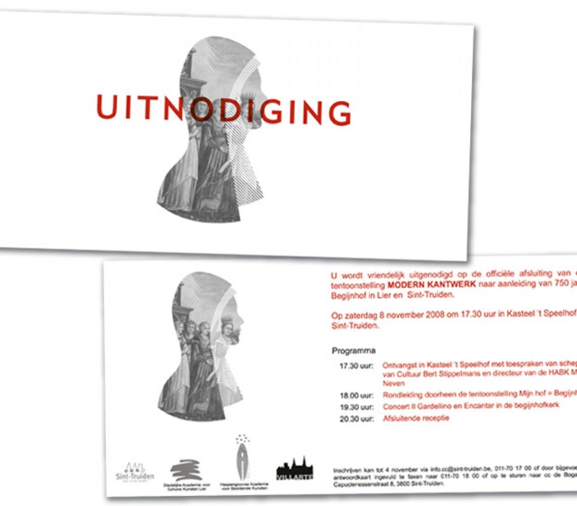 cc de Bogaard US flyer uitnodiging modern kantwerk