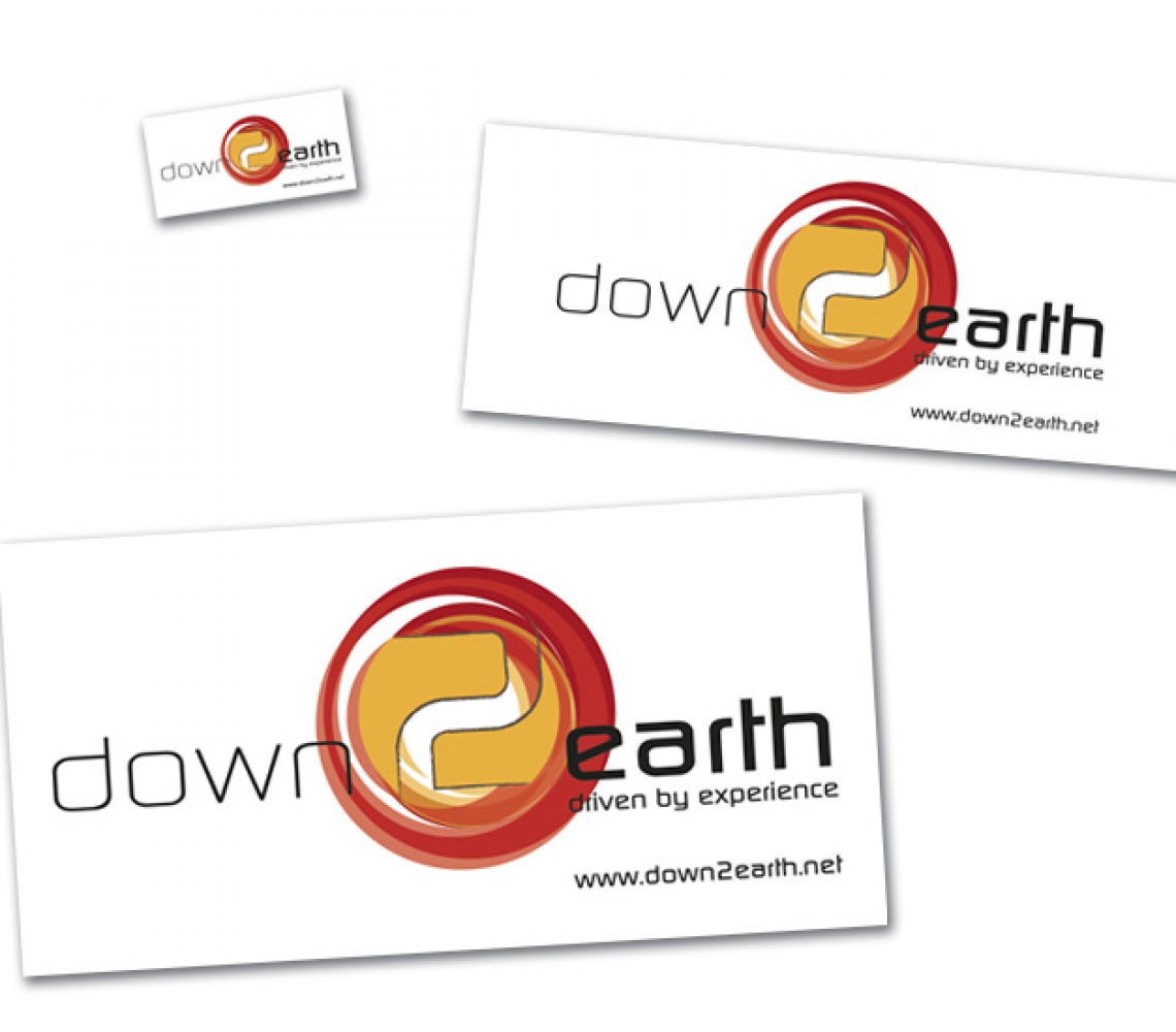 down2earth Stickers – verschillende formaten