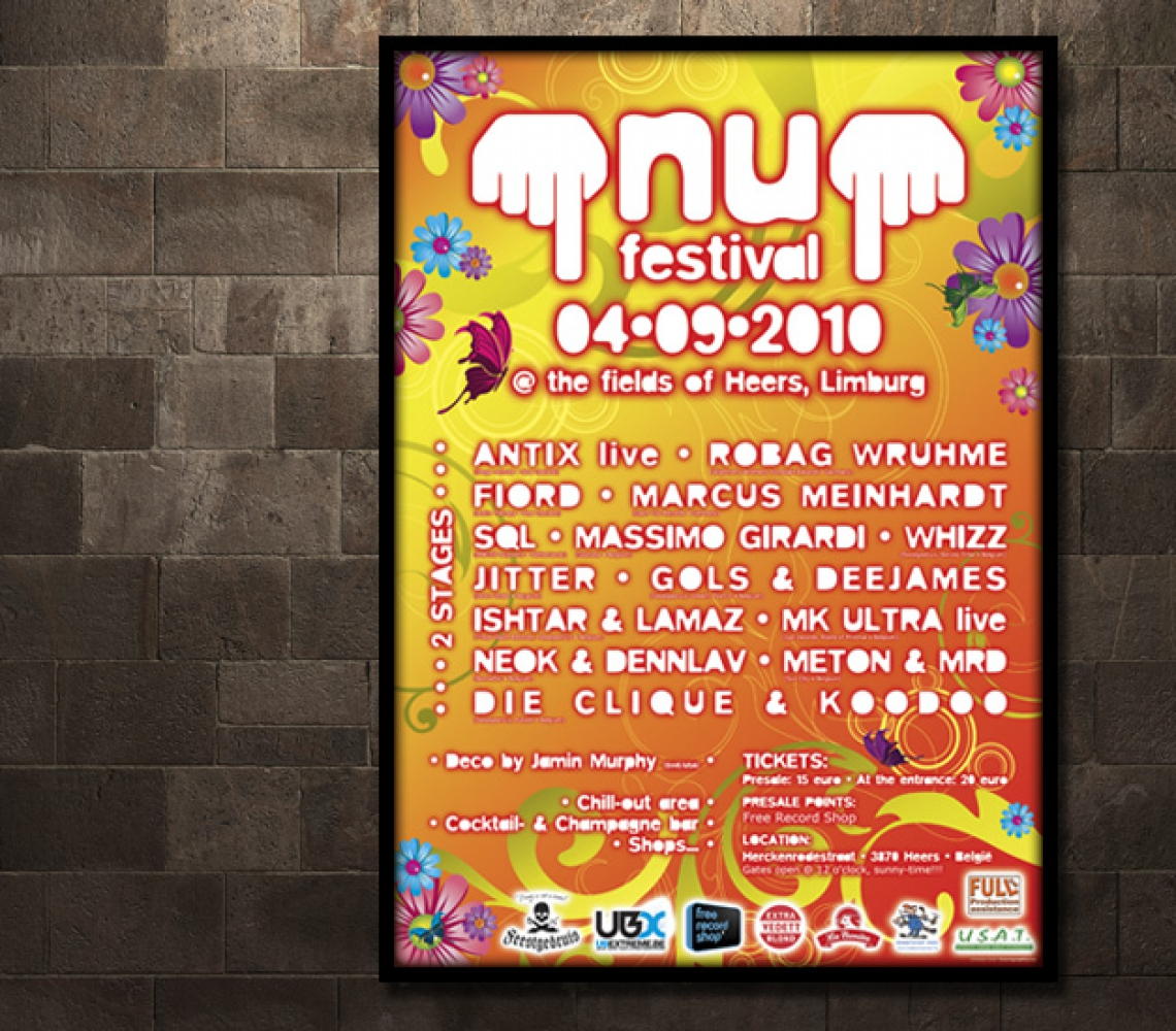 nu festival 2010 Affiche eventaankondiging