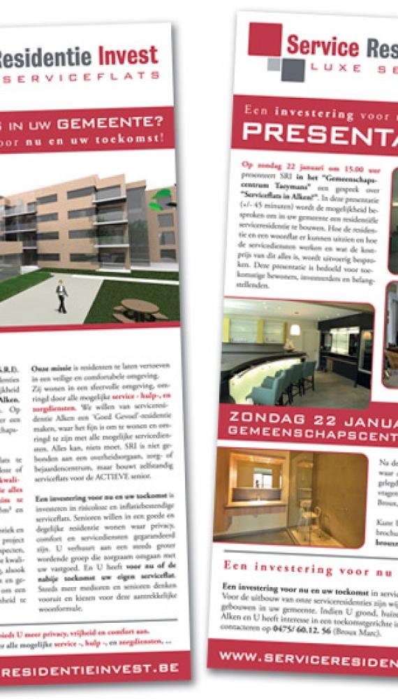 service residentie invest folder nieuwe serviceflats, 148x315mm